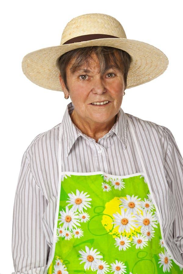 Jardineiro fêmea fotografia de stock royalty free