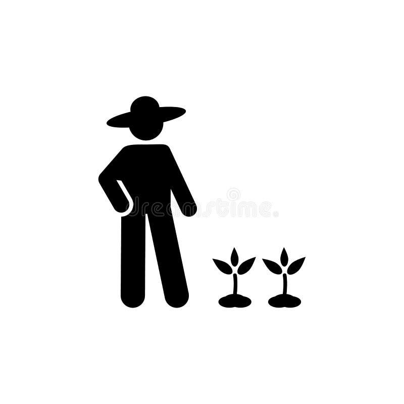 Jardineiro, flor, ícone do jardim Elemento do ícone rotineiro diário ilustração royalty free