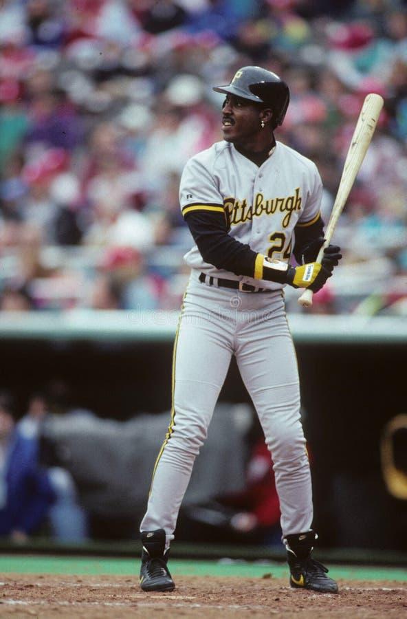 Jardinero Barry Bonds de los Pittsburgh Pirates imagenes de archivo