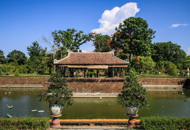 Jardines alrededor de la ciudad imperial de la tonalidad, Thua Thien-Hue, tonalidad, Vietnam fotos de archivo