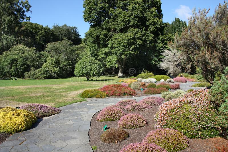 Jardines botánicos de Christchurch imágenes de archivo libres de regalías