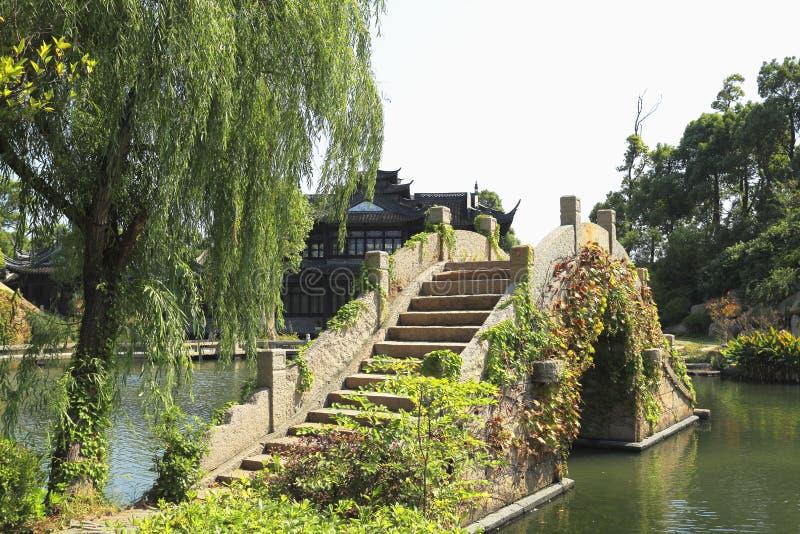 Jardines Chinos Del Puente Viejo Foto de archivo Imagen de