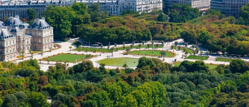 Jardines de Luxemburgo, sur de París, Francia fotos de archivo