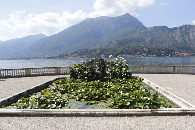 Jardines de Melzi del chalet, en Bellagio, foto de archivo libre de regalías