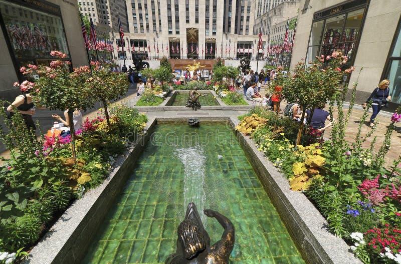 Jardines de Rockefeller Centerl imágenes de archivo libres de regalías
