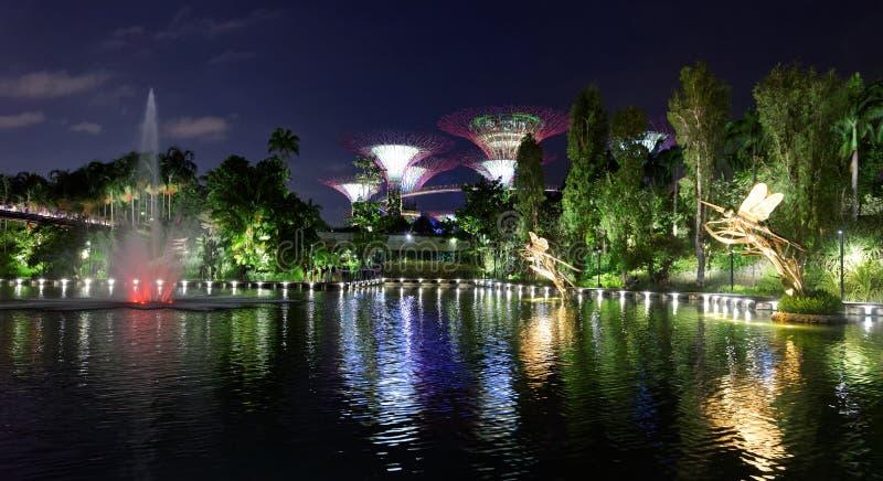 Jardines de Singapur por la bahía foto de archivo libre de regalías