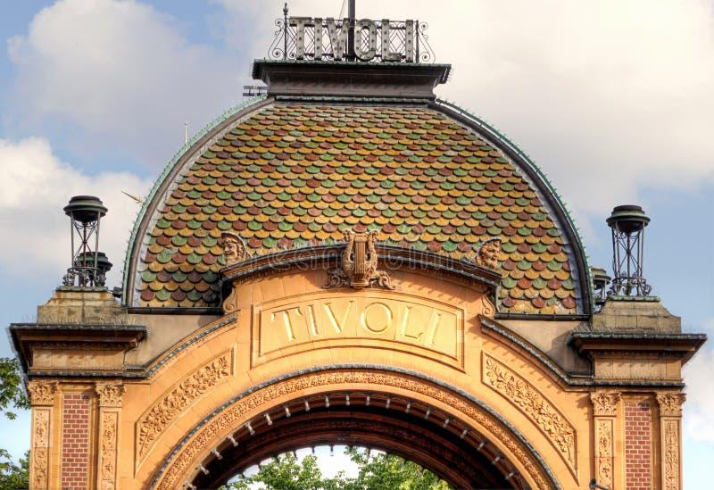 Jardines de Tivoli, Copenhague imagenes de archivo