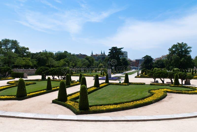 Jardines del Buen Retiro a Madrid, Spagna immagini stock libere da diritti