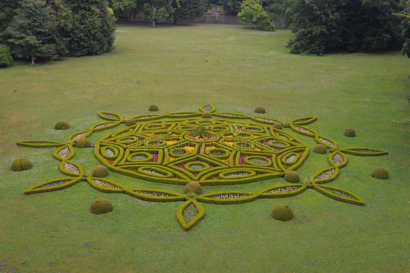 Jardines del castillo de Kromeriz imagen de archivo libre de regalías