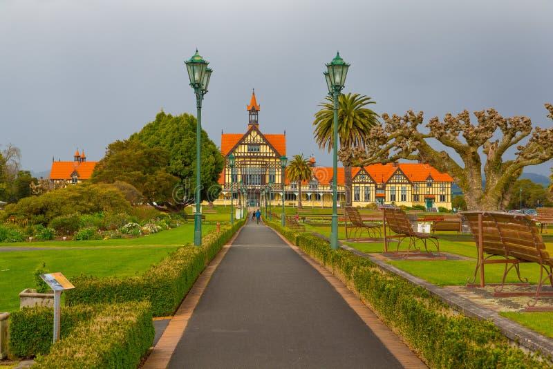 Jardines del gobierno - Rotorua fotografía de archivo