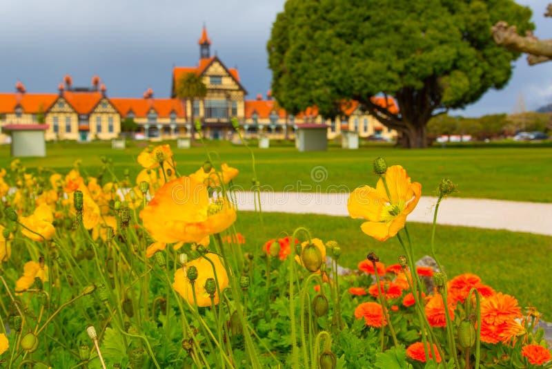 Jardines del gobierno - Rotorua foto de archivo libre de regalías