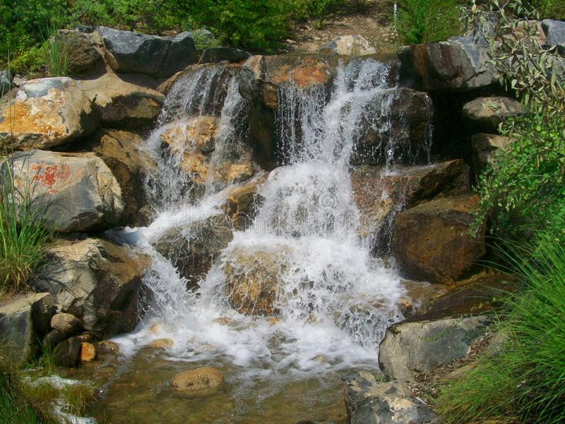 Jardines del punto de la acción de gracias, Utah, cascada imagenes de archivo