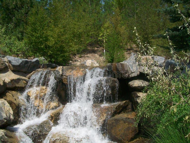 Jardines del punto de la acción de gracias, Utah, cascada foto de archivo libre de regalías