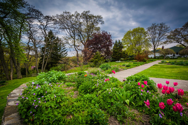 Jardines en el alto parque, en Toronto, Ontario foto de archivo libre de regalías