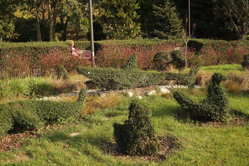 Jardines hermosos del parque de Goztepe de libertad en Estambul Kadikoy fotografía de archivo libre de regalías