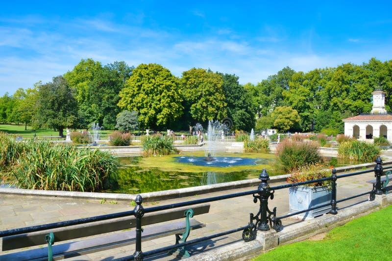 Jardines italianos del agua, Hyde Park fotografía de archivo
