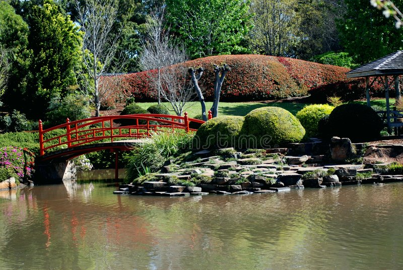 Jardines japoneses fotografía de archivo