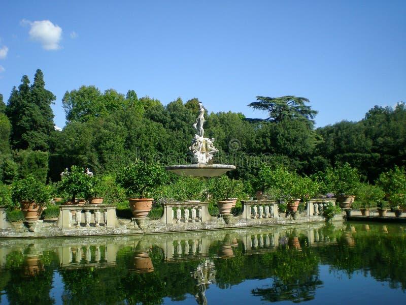 Jardines monumentales florentinos de Boboli fotografía de archivo libre de regalías