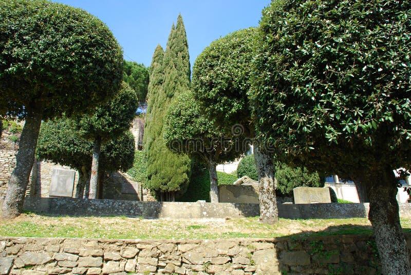 Jardines públicos en Toscana 1 foto de archivo