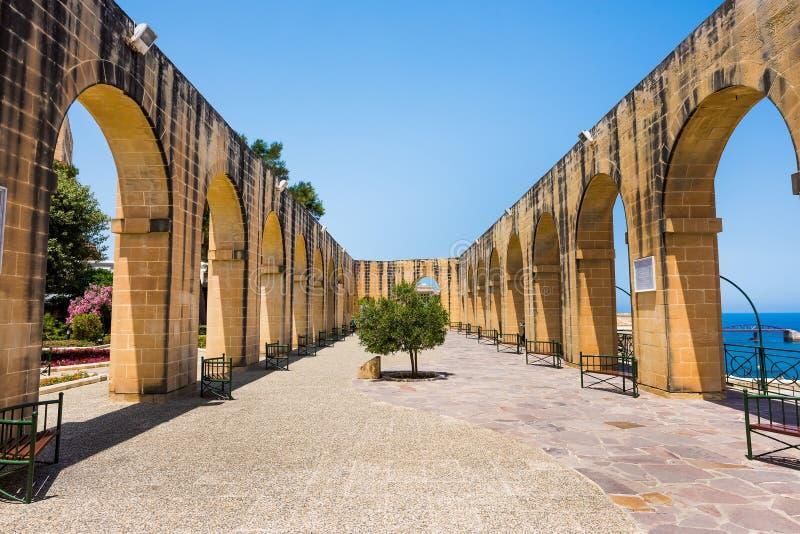 Jardines superiores de Barrakka en La Valeta fotos de archivo libres de regalías