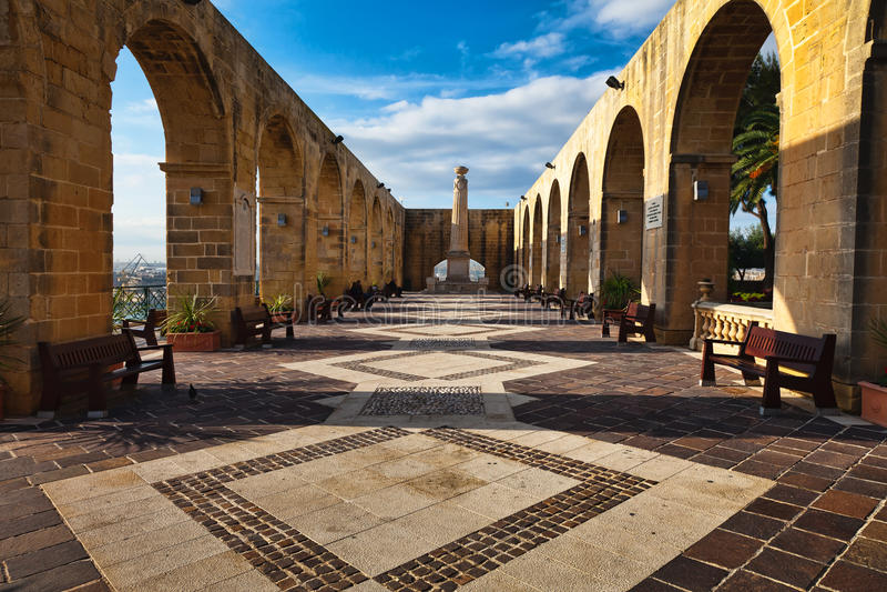 Jardines superiores de Barrakka, Malta imágenes de archivo libres de regalías