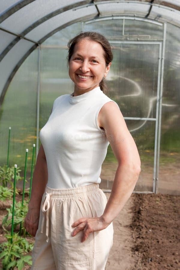 Jardinier mûr photographie stock