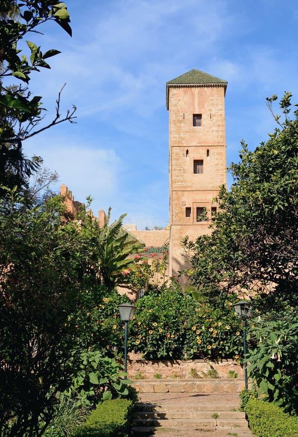 Jardins andaluzes no kasbah de Udayas fotos de stock