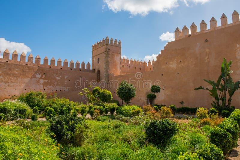 Jardins andaluzes no Norte de África de Rabat Marrocos do kasbah de Udayas fotos de stock royalty free