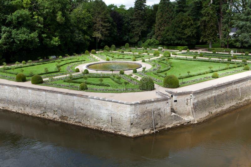 Jardins au château Chenonceau photos libres de droits