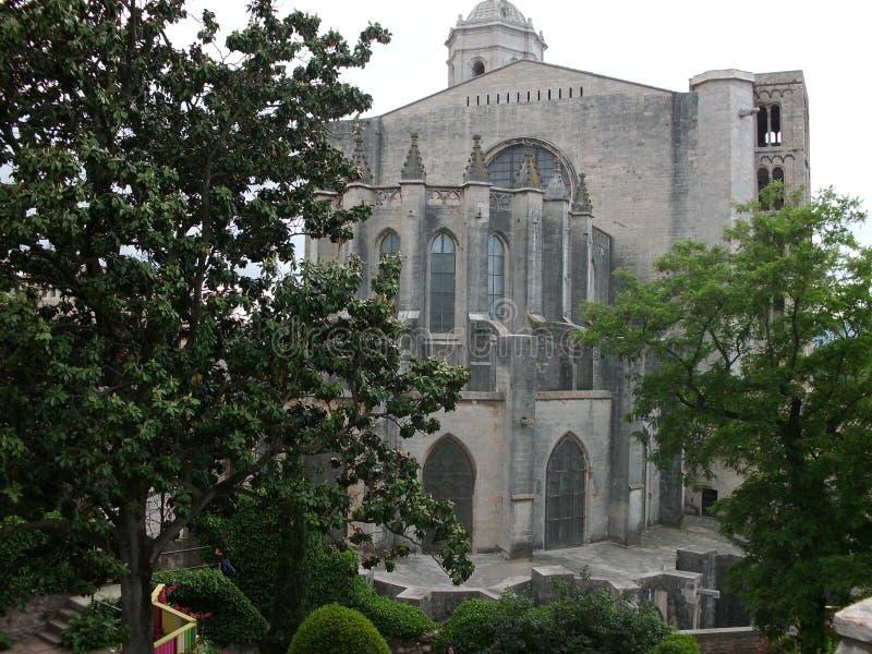 Jardins autour de la cathédrale de Gérone photo stock