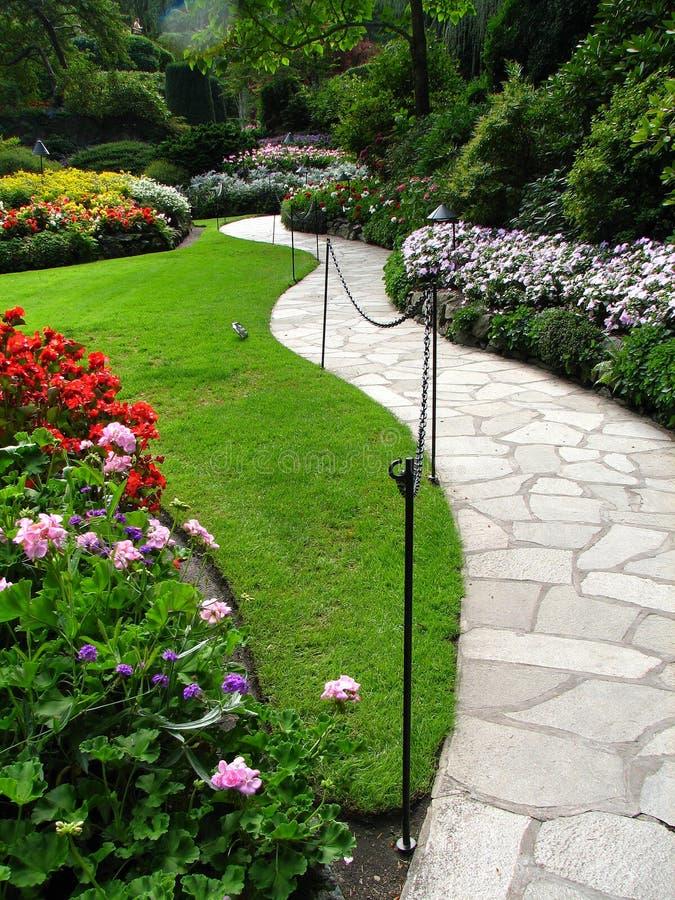 Jardins bonitos de Butchart fotos de stock royalty free