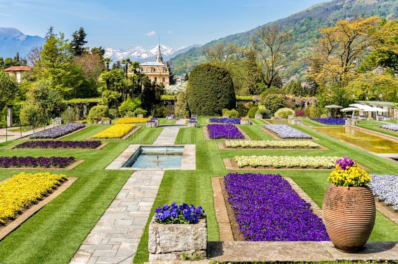 Jardins botânicos da casa de campo Taranto, Pallanza, Itália foto de stock