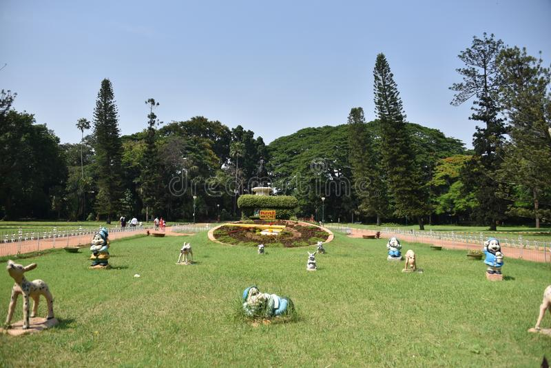 Jardins botânicos de Lalbagh, Bangalore, Karnataka, imagem de stock