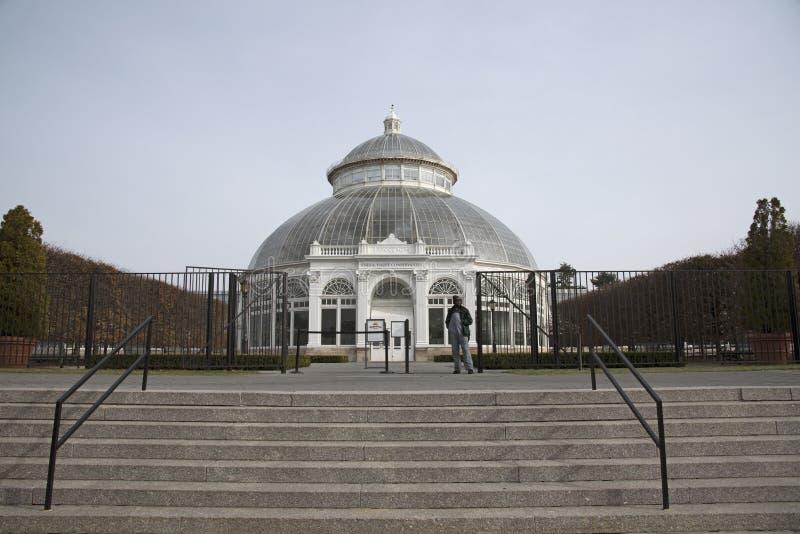 Jardins botânicos de NY o conservatório EUA de Haupt imagens de stock