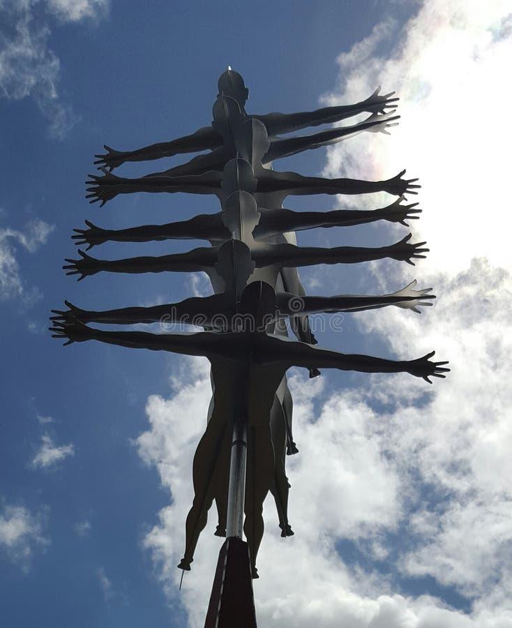 Jardins botaniques Auckland de la Nouvelle Zélande de sculpture abstraite en jardin images stock