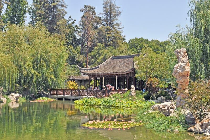 Jardins botaniques de Huntington : Jardin chinois paisible de l'eau photographie stock
