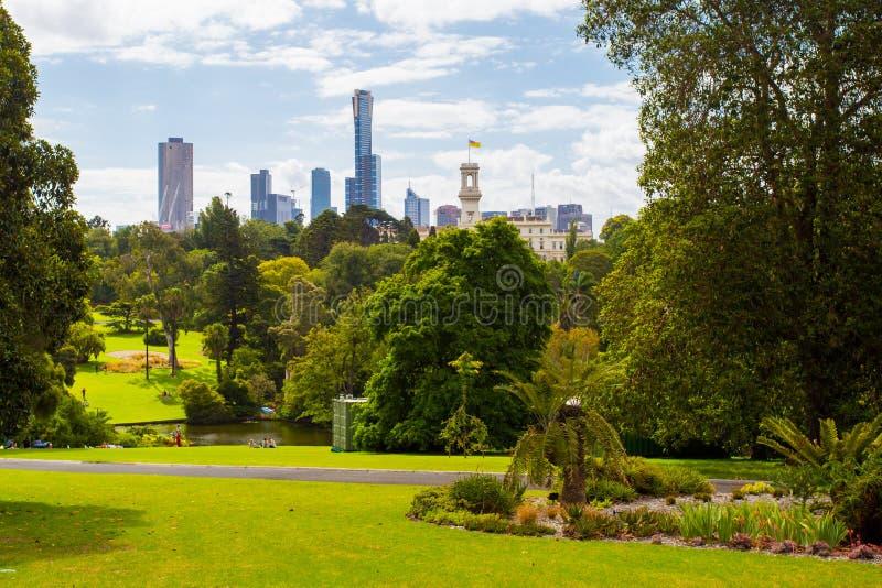 Jardins botaniques royaux de Melbourne photo libre de droits