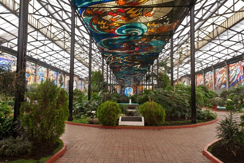 Jardins botaniques Toluca de Cosmovitral photo stock