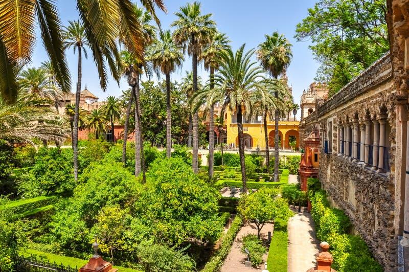 Jardins d'Alcazar de Séville, Espagne photo libre de droits