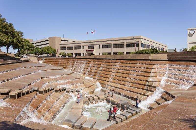 Jardins da água em Fort Worth, TX, EUA fotografia de stock royalty free