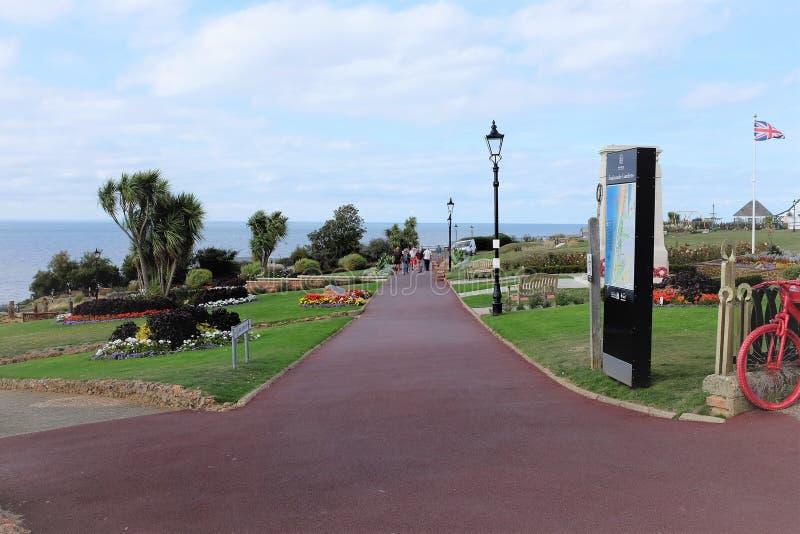 Jardins da esplanada, Hunstanton, Norfolk imagens de stock