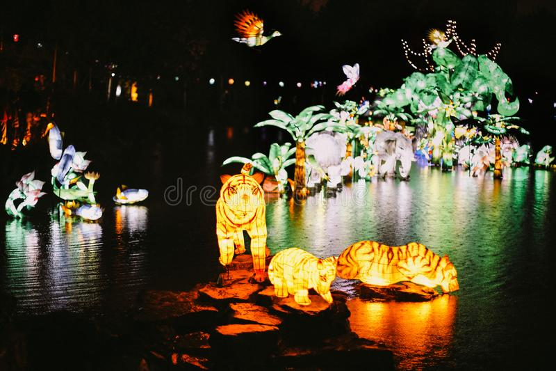 Jardins da luz em Montreal imagens de stock royalty free