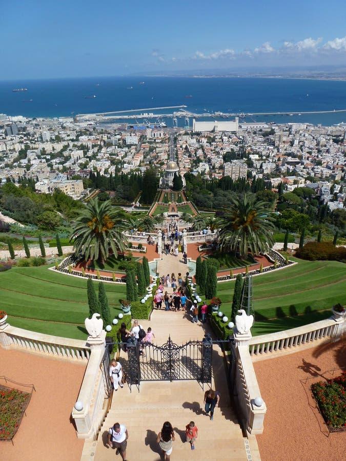 Jardins de Bahai à Haïfa photo libre de droits