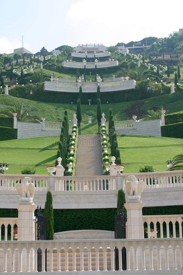 Download Jardins de Bahai foto de stock. Imagem de jardim, verde - 71212