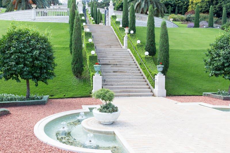Jardins de Bahai imagem de stock