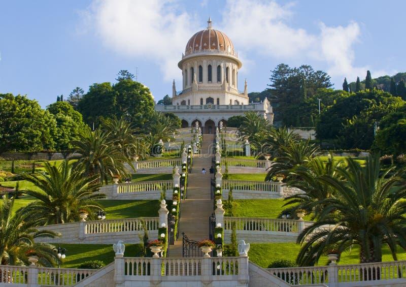 jardins de bahai image libre de droits