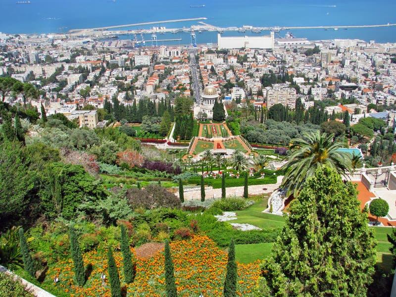 Jardins de Bahai em Haifa imagem de stock