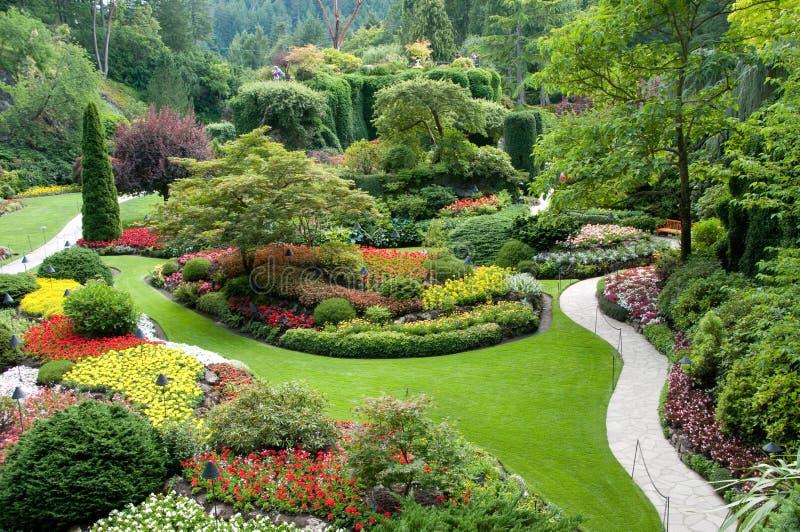 Jardins de Butchart fotografia de stock