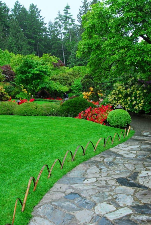 Jardins de Butchart foto de stock