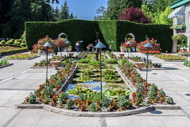 Jardins de Butchart dans le Canada d'île de Vancouver photo stock